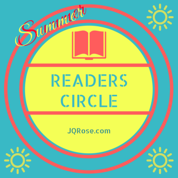 Double Summer Readers Circle stencil letters sm book